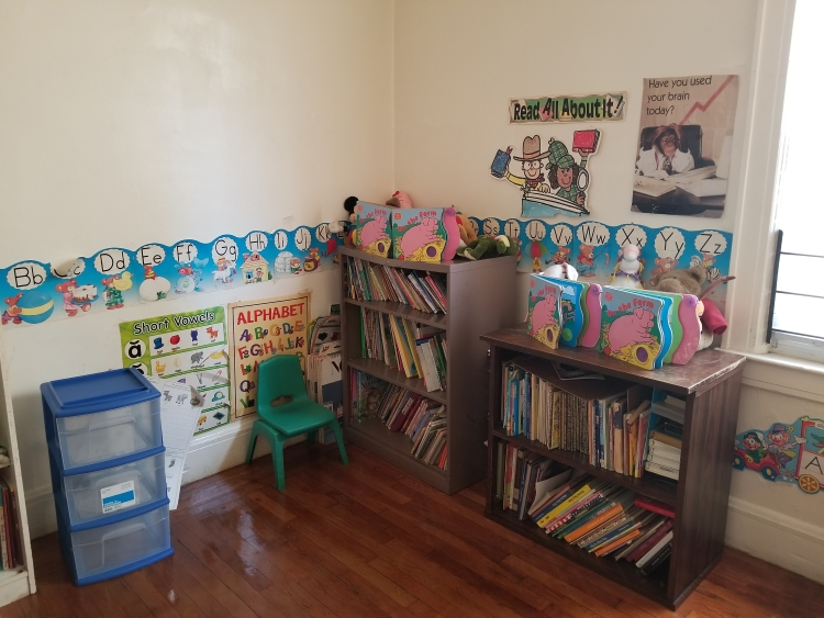 The library at Little Lambs Day School