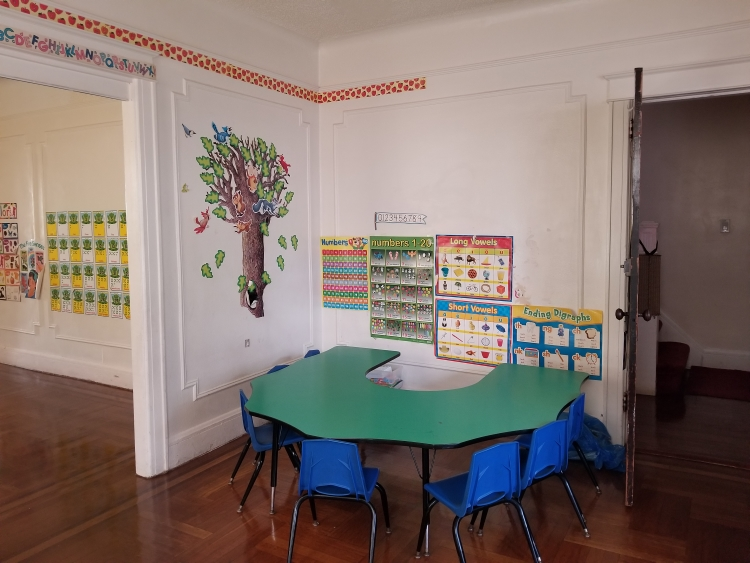 One of the classrooms at Little Lambs Day School